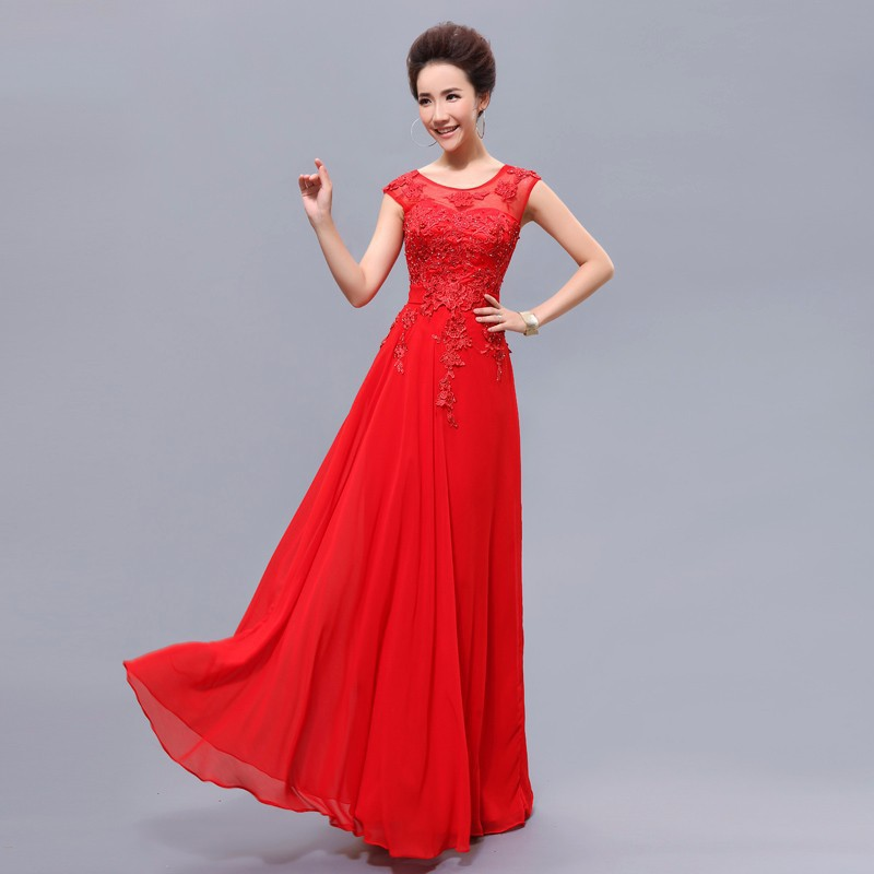Cheap-Long-Red-Bridesmaid-Dresses-with-Beading-Elegant