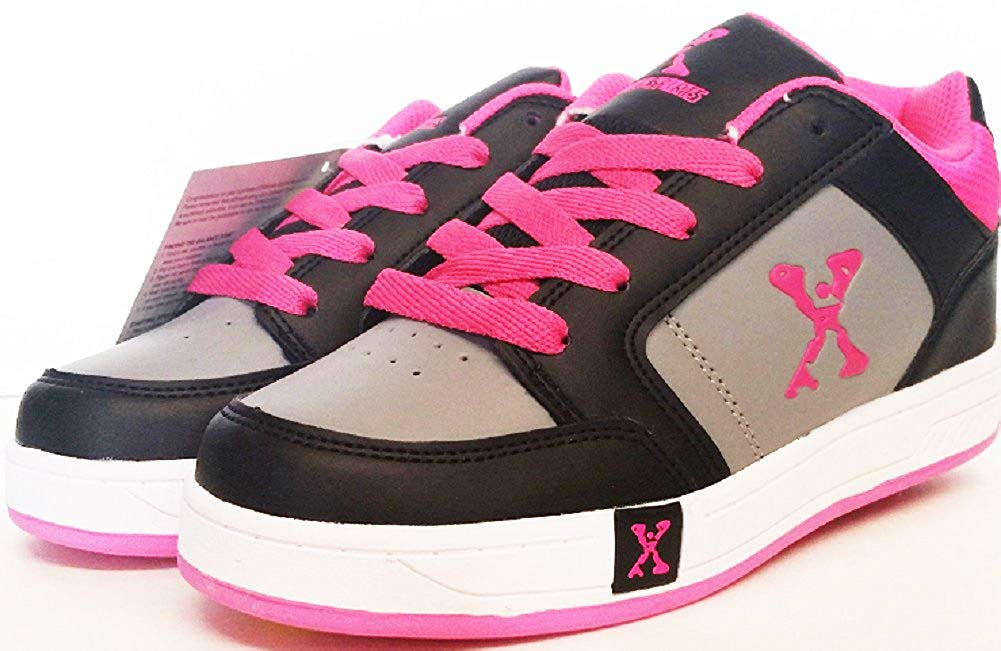 a2a2947e4113 Get Quotations · Sidewalk Sports Street Kids  Wheeled Skate Shoe  Color  Black Pink
