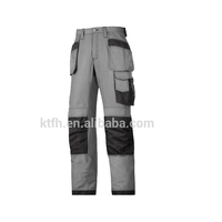 Safety mens work trousers with knee pad work cargo pants