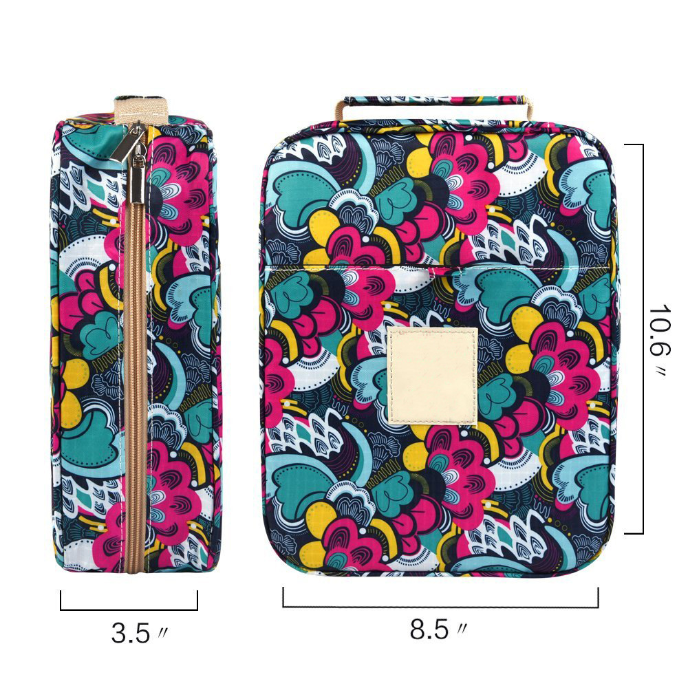 student & Artist blossom gift gel pens & Pencil Case bag Holder Slot with Zipper Closure