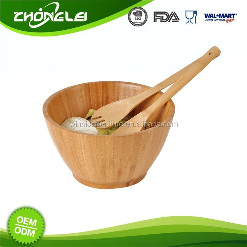 Customizable Top Grade Wholesale Price Bamboo Salas Bowl