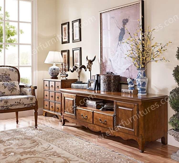Wooden furniture designs victorian antique furniture antique living room  set TV stand with drawer - Wooden Furniture Designs Victorian Antique Furniture Antique