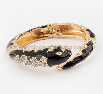 Snake Cuff Bangle Arm Wrap Bracelet Black Product