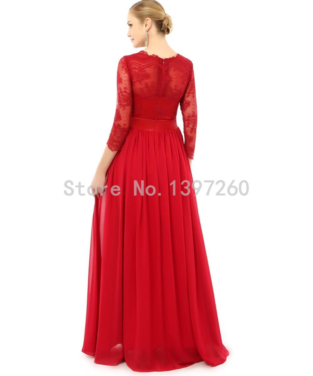 la mode des robes de france robe rouge manche longue. Black Bedroom Furniture Sets. Home Design Ideas