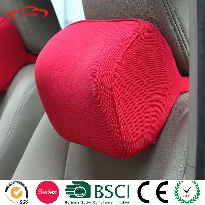 Totem Breathable Pique Fabric Cover Car Seat Pillow, SUV Car Neck Rest Pillow, Essential Car Accessories