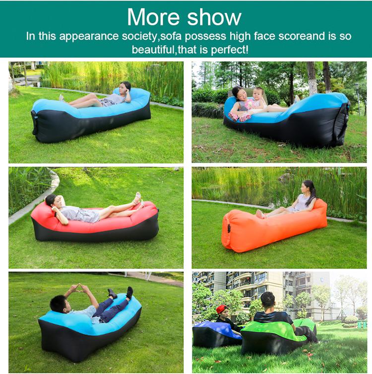 hangout bean bag chair fast inflatable camping sofa lazy sleeping lay bag banana air bed lounge