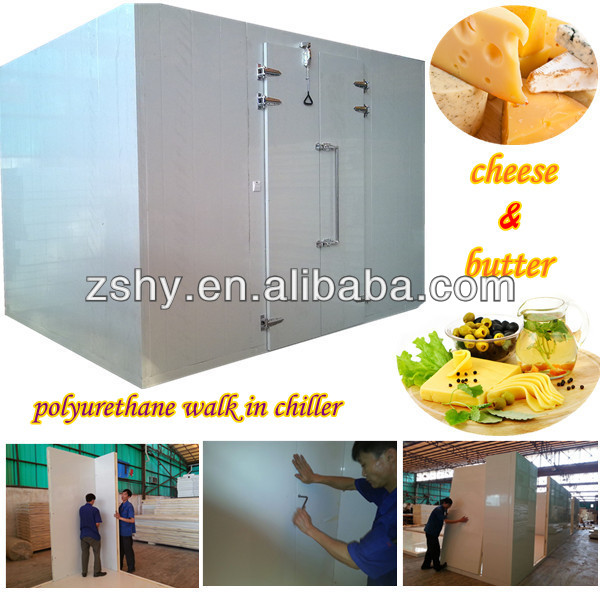 chilled cold storage room to refrigerated storage milk and yogurt