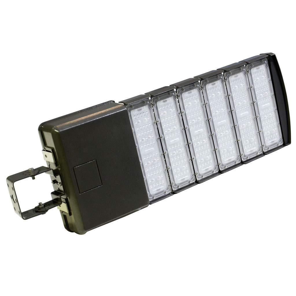 Docheer 300 Watt LED Parking Lot Light - LED Shoebox Light Fixture -36000lm 5300k Outdoor Waterproof Pole Mount Light for Large Area Lighting (1000 w Eq.)- Trunnion Mount- DLC Premium