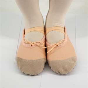 In Stock White Pink Flesh Colors Canvas Ballet Slippers for Wedding