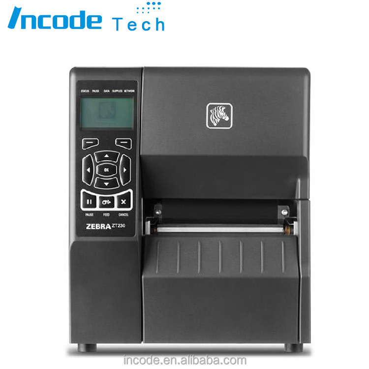 Industrial zebra printer ZT230 high quality 203dpi usb serial interface thermal-transfer barcode label sticker printer