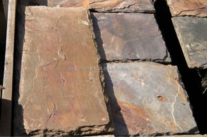 rusty kund multi slate pillar caps 400*200*5-11mm with chiselled edge