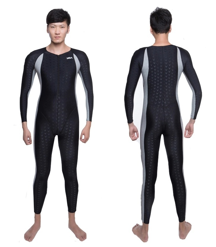 Get Quotations · NSA unique design full body lycra swimwear sharkskin  waterproof mens bodysuit swimming wetsuits diving suit 904ea22cbe