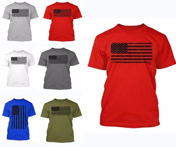 2017 Custom summer 100% cotton American flag t shirt printing bulk summer clothing for men