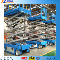 JIC 6-14m Self Propelled Electric Man Power Auto Skylift Indoor Scissor Lift For Sales