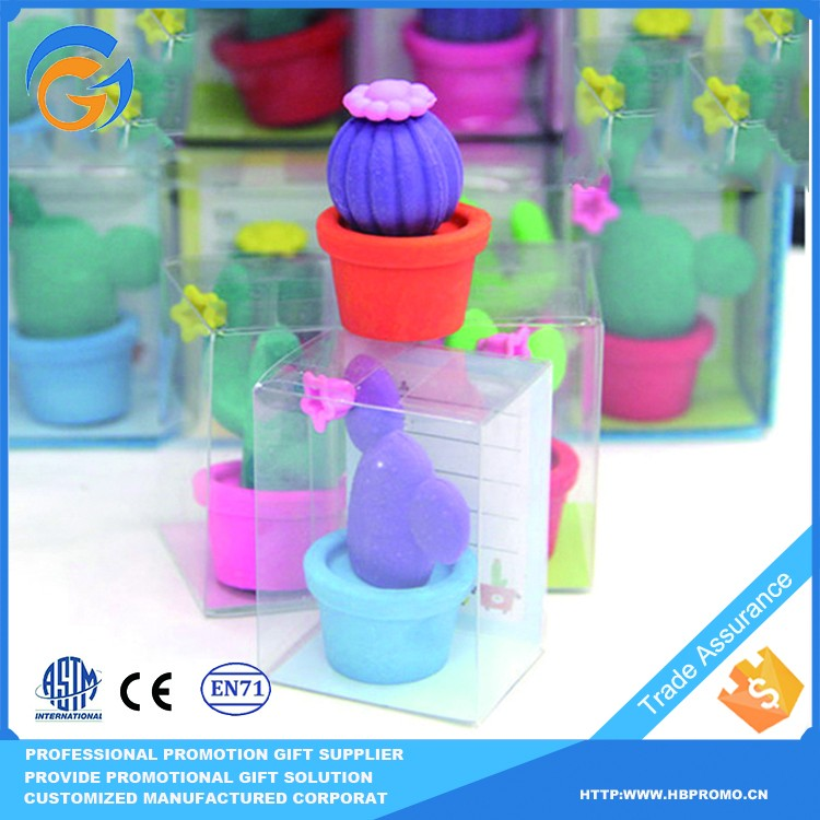 Hot Sale Customized Fun Flower Shape Erasers for Kids