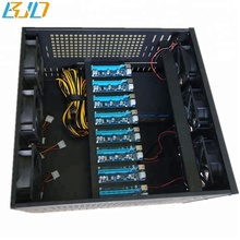 Wholesale 8 GPU 6U Mining Server Frame Rig Case with 6 new fans Solution for Building a Mining Rig