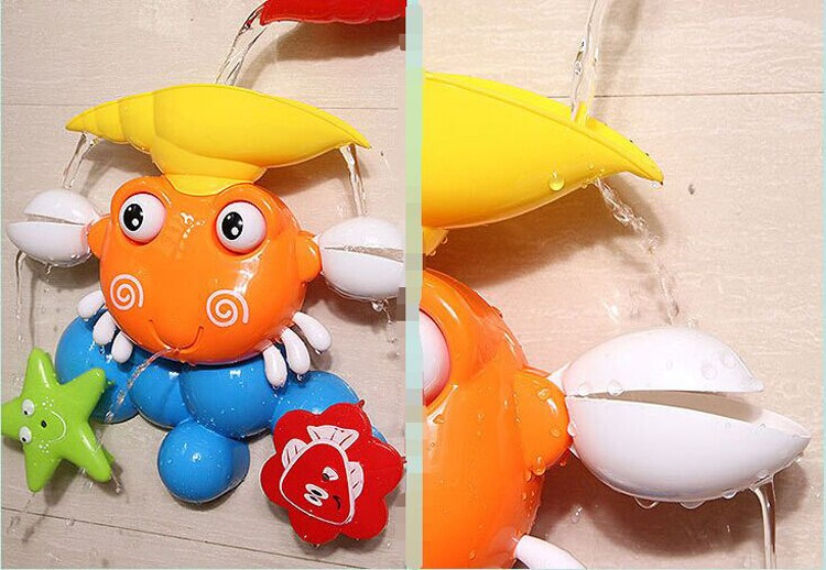 Lovely plastic crab kids tub town bath toy for sale