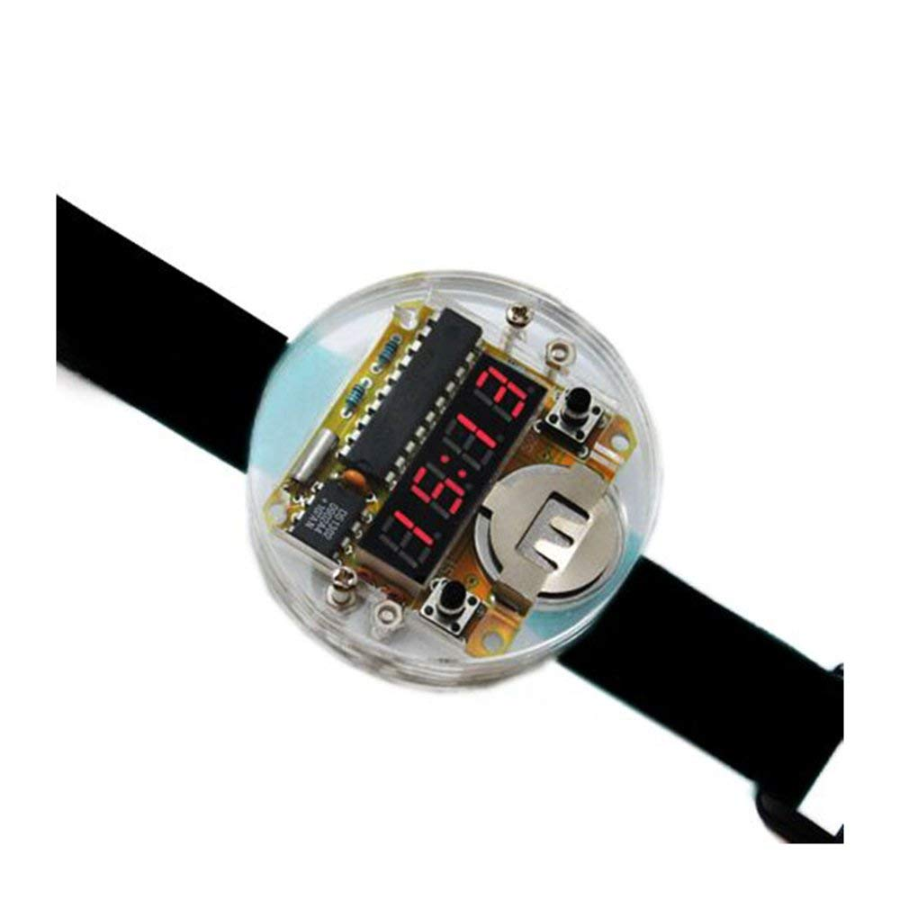 Buy Electronic Clock Kit Diy Single Chip Led Digital Parts Circuit Board Time Smart Watches Watch