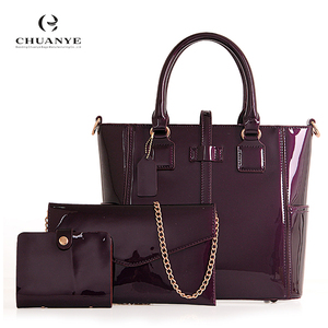Dropshipping Custom Whole Newest Fashion Patent Leather Lady Handbag Tote Bags For Women