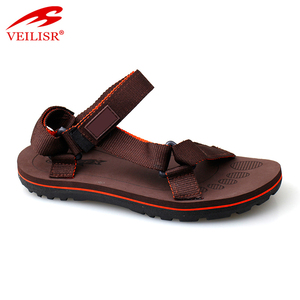 New design fashion nylon tape footwear injection sole men sandals