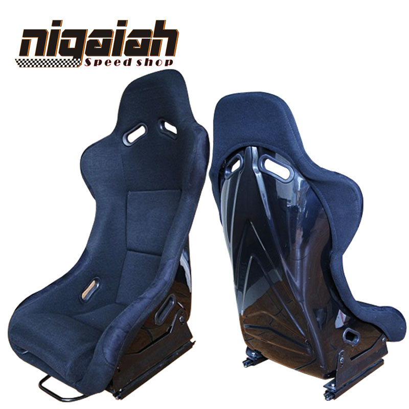 Newest Hot Selling Design Racing style Unadjusable Auto Universal Car Sport Seat black Suede