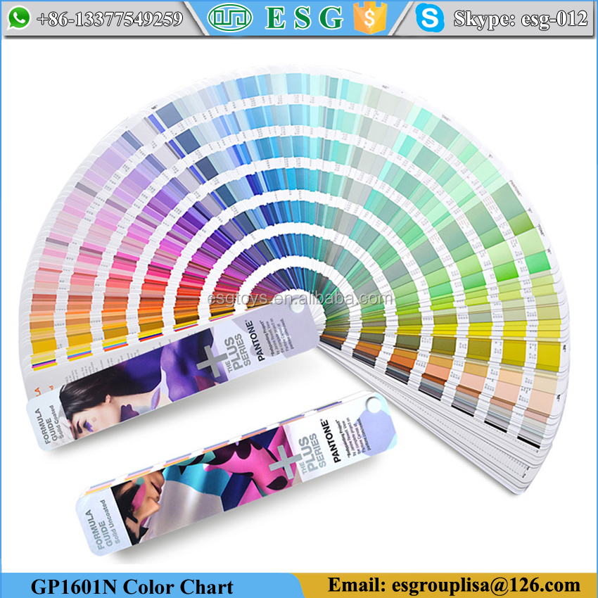 Pantone GP1601N color chart Coated & Uncoated formula pantone cu color guide color card