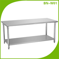 2-tiers outdoor stainless steel portable beach table