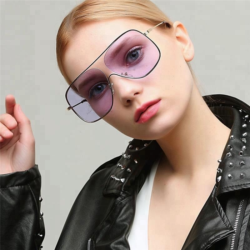 2018 Retro Fashion Stainless Steel Oversize Metal Sunglass For Men Women