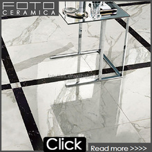 Full polished marble look white calacatta porcelain tile 24x24