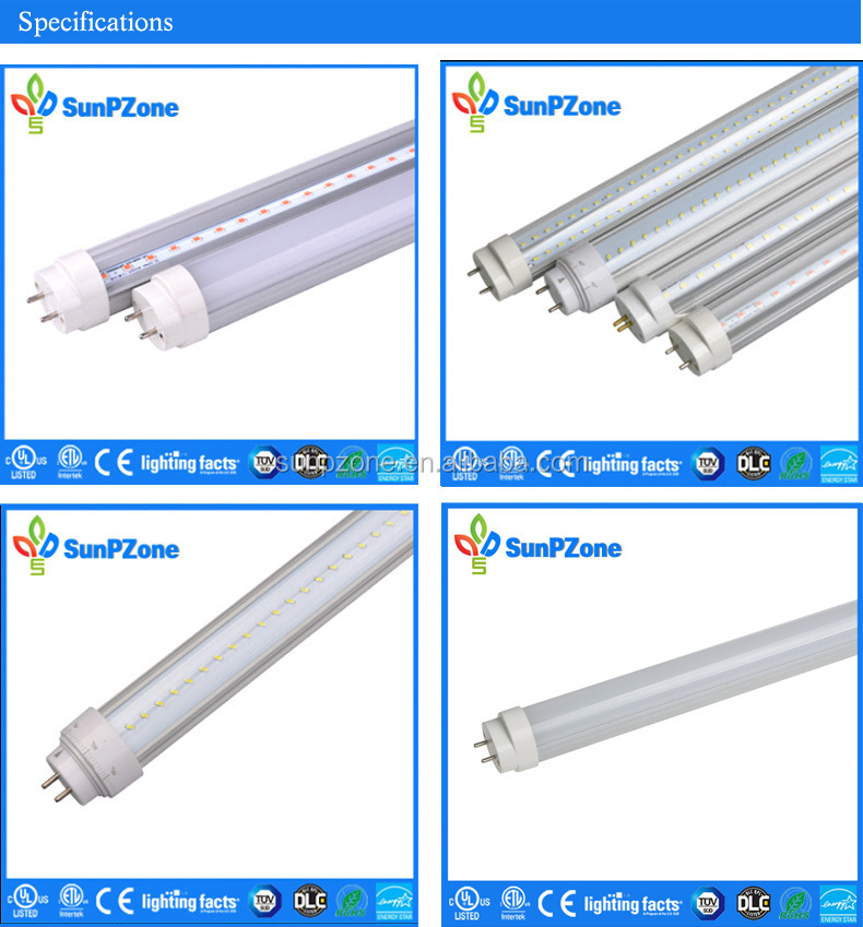 2015 Update All Connector Design Smd2835 33w T8 Led Tube