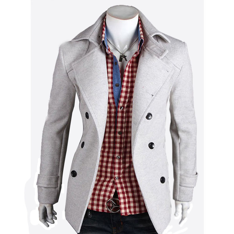 a109debf2ab Get Quotations · 2015 Men stylish Winter Mens Jackets And Coats Mens Double  Breasted Stylish Pea Coats Mens Wool