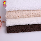 Soft quality factory fabric polyester one side brushed fleece fabric