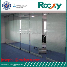 ROCKY factory sell 2mm-19mm tempered glass office door high quality tempered glass