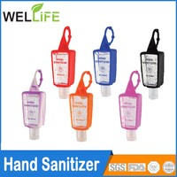 50ML WATERLESS INSTANT POCKET BULK TRAVEL SIZE HAND SANITIZER WITH CLIP WITH KEY RING