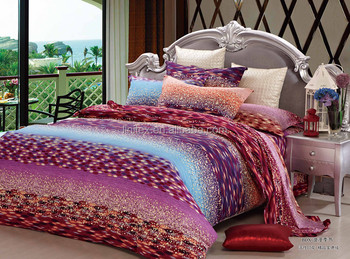 Hot Sale New Style 100% Cotton Bed Sheet Quilt Bedding Sets Reactive  Printed Floral Design