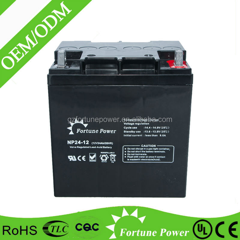12v 24ah Capacitor Lead Acid 12 Volt Rechargeable Battery