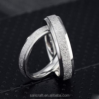 Personality 2016 love slip 925 silver couple ring