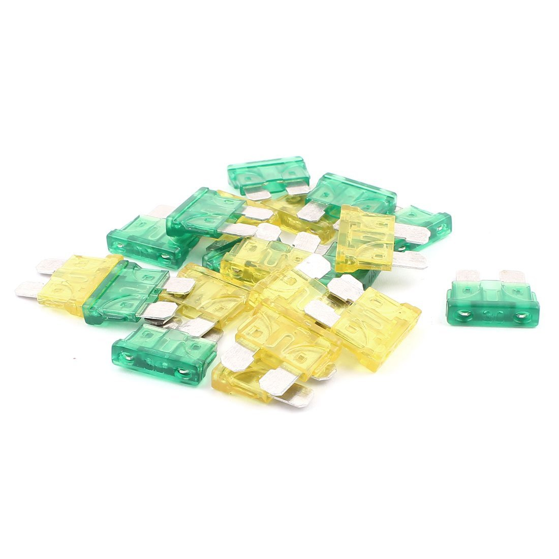 uxcell Car Truck Vehicle SUV Mini Blade Fuse 30A 20A 20pcs Yellow Green