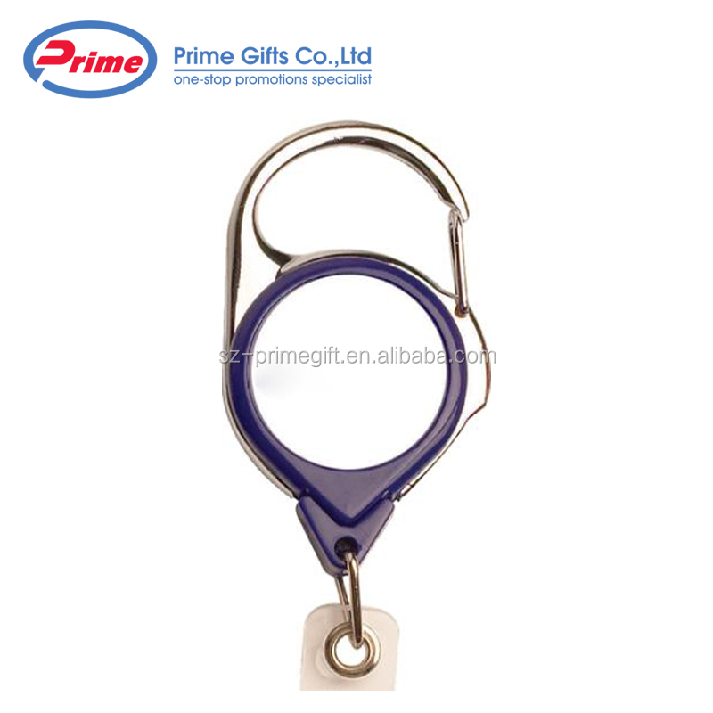 Budget Buy Custom Printed Solid Colors Carabiner Metal Badge Reel