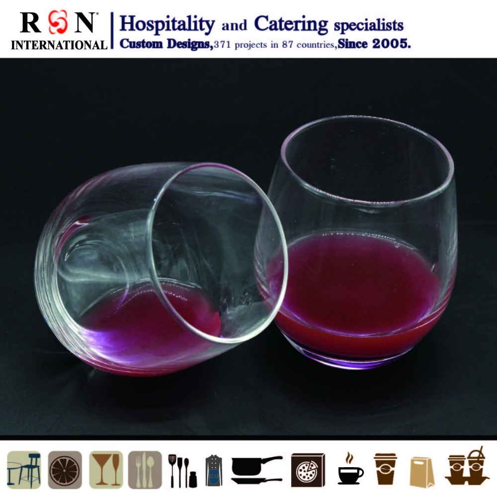 30cl water temper steel glass cup for restaurant