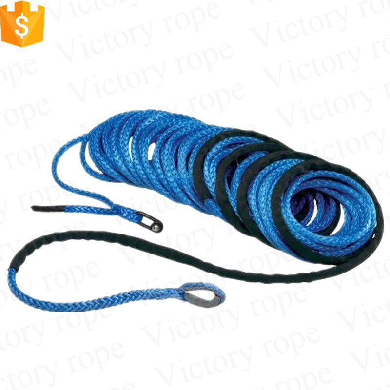 Hot sale 5mm 4x4 ATV/UTV synthetic winch rope in blue color