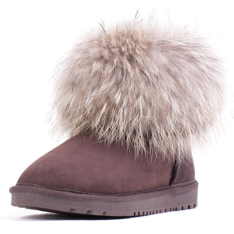 dae387893cb9 Buy Supersoft High Quality Fox Fur Boots Women Real Winter Snow Boots Women  Shoes Ankle Botas Femininas 2015 Botte Femme MF302 in Cheap Price on  m.alibaba. ...