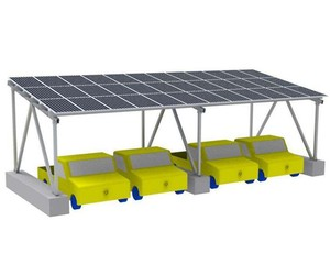 Modern Garage Solar Generate Electricity and Charge Carport for Car
