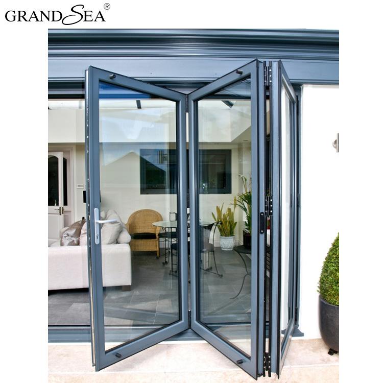 Hot Sale Double Glass Aluminum Accordion Exterior Low E Glass Folding Doors Buy Folding Doors Aluminum Folding Doors Aluminum Folding Glass Doors