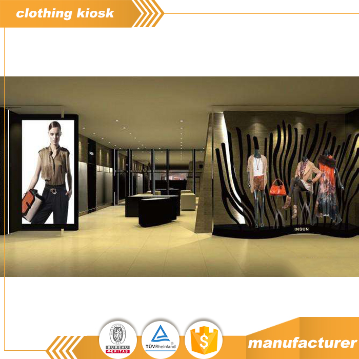 Ladies Apparel Garments Display Kiosk Interior Layout Decoration Clothing Kiosk Design