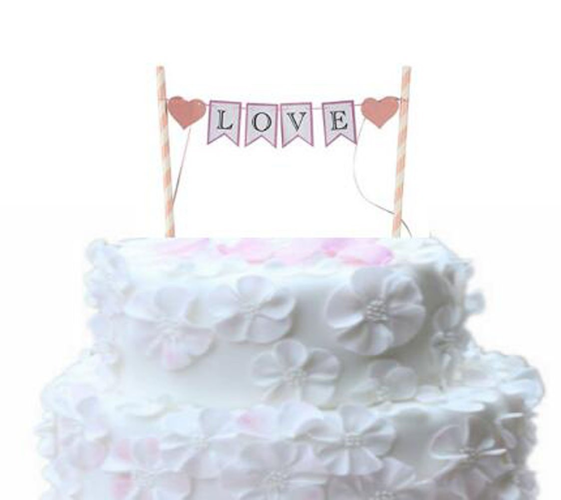 Buy Handmade Love Cake Bunting Banner Wedding Birthday Party Cake