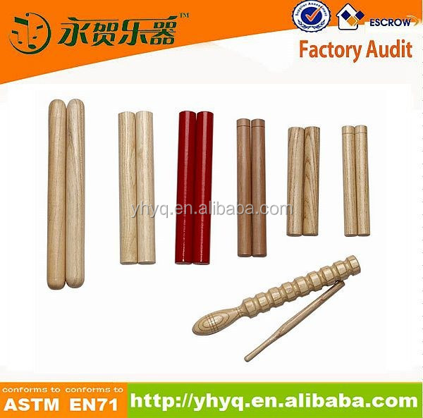 musical accessories wood colorful claves stick