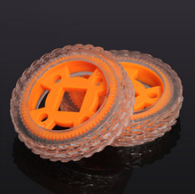 Transparent rubber wheels small size 47X12mm for DIY toy car model