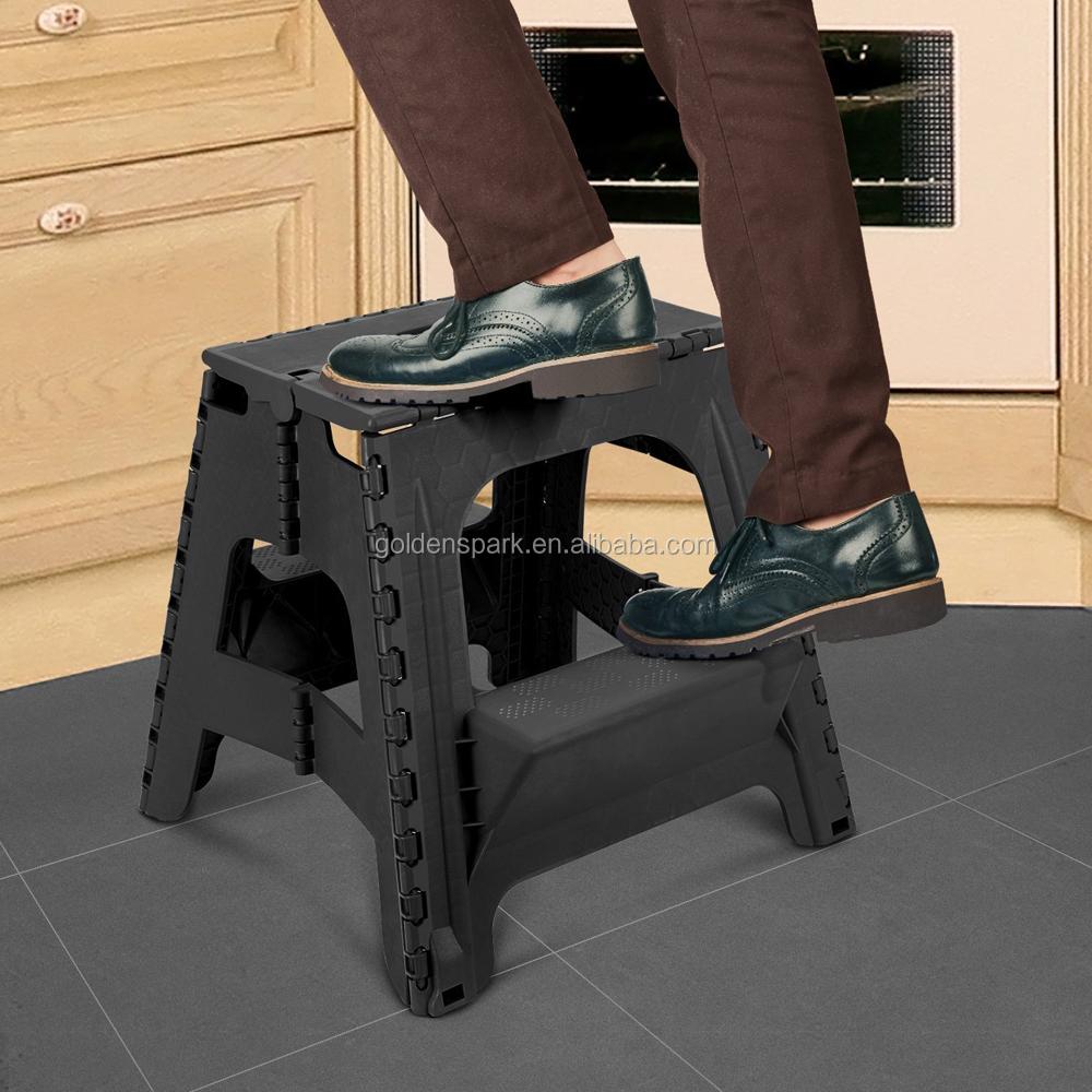 2 In 1 Dual Purpose 2 Step Ladder Portable Plastic Folding