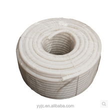 White PVC Corrugated Hose Cable Protection Flexible Hose